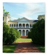 Summer Time At Sweet Briar House Fleece Blanket