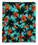 Summer Time  Fleece Blanket