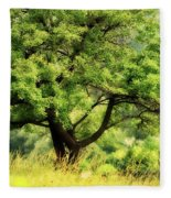 Summer Tree Fleece Blanket