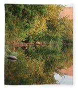 Summer Trees Sunset Fleece Blanket