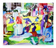 Summer With In The Park With George Fleece Blanket