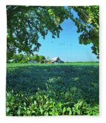 Summertime Blues Fleece Blanket
