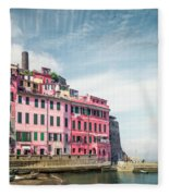 Summertime Town Fleece Blanket