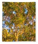 Summertime Tree Fleece Blanket