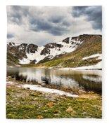 Summit Lake Study 3 Fleece Blanket
