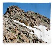 Summiting The Mount Massive Summit Fleece Blanket