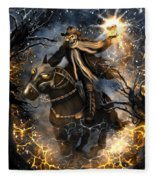 Summoned Skull Fantasy Art Fleece Blanket