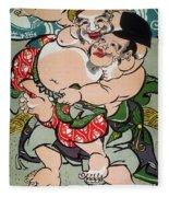 Sumo Wrestling Fleece Blanket