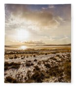 Sun Above Lake Argentino Fleece Blanket