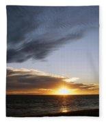 Sun And Clouds Fleece Blanket