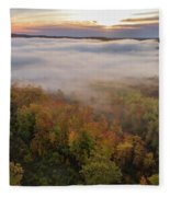 Sun And Fog Fleece Blanket