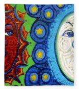 Sun And Moon Fleece Blanket