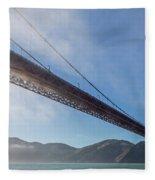Sun Beams Through The Golden Gate Fleece Blanket