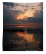 Sun Behind The Clouds Fleece Blanket