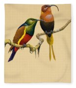 Sun Birds Fleece Blanket