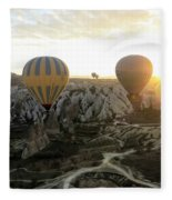 Sun Breaks The Horizon Fleece Blanket