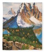 Sun Burst Peak Canada  Fleece Blanket