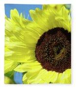 Sun Flower Garden Art Prints Sunflowers Baslee Troutman Fleece Blanket