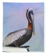 Sun Glow Pelican Fleece Blanket