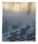 Sun Going Down On American Falls Fleece Blanket