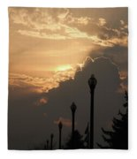 Sun In A Cloud Of Glory Fleece Blanket