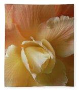 Sun Kissed Begonia Flower Fleece Blanket