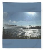 Sun On The Falls Fleece Blanket