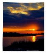 Sun Peaking Through Fleece Blanket