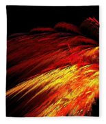 Sun Plumes Fleece Blanket