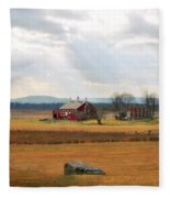 Sun Rays On Codori Farm. Fleece Blanket