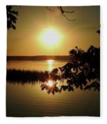 Sun Rise, Hamlin Lake Photograph Fleece Blanket