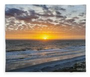 Sun Rising Over Atlantic Fleece Blanket