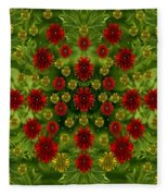 Sun Roses In The Deep Dark Forest With Fantasy And Flair Fleece Blanket