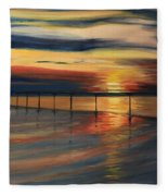 Sun Set At Seabridge Fleece Blanket
