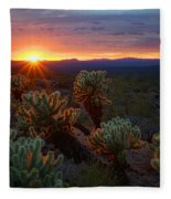 Sun Sets Over The Sonoran  Fleece Blanket