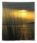 Sun Setting From Eastern Point Fleece Blanket