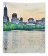 Sun Rise In Indianapolis Fleece Blanket