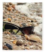 Sun Shades And Sea Shells Fleece Blanket