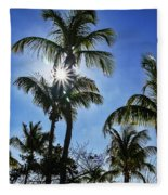 Sun Through Smathers Beach Palms Fleece Blanket