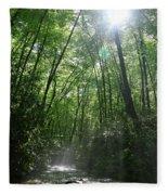 Sun Through The Trees Fleece Blanket