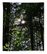 Sun Through Trees In Forest Fleece Blanket