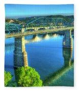 Sun Up Reflections Chattanooga Tennessee Fleece Blanket