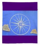 Sun Wheel Fleece Blanket