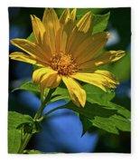 Sun Yellow Fleece Blanket