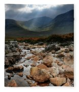 Sunbeams, Glencoe, Scotland Fleece Blanket