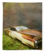 Sunbeams On A Classic Cadillac Fleece Blanket