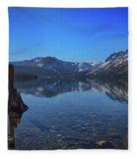 Sunbeams On Fallen Leaf Lake Fleece Blanket