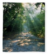 Sunbeams Through Trees Fleece Blanket