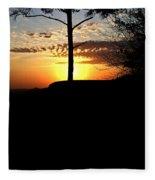 Sunburst Sunset Fleece Blanket