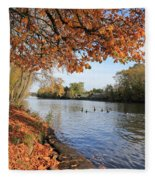 Sunbury On Thames Surrey Uk Fleece Blanket